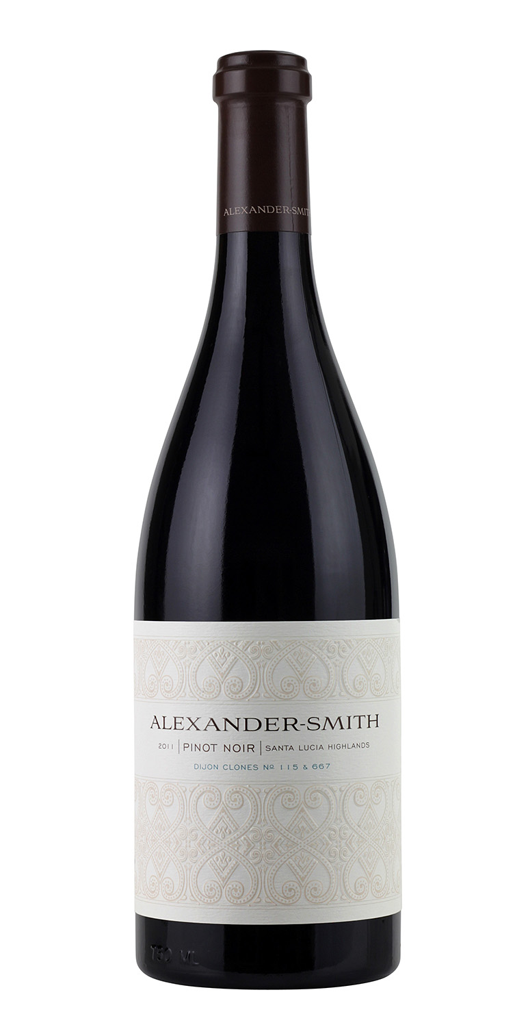 Alexandar Smith wine bottle embossed label lighting